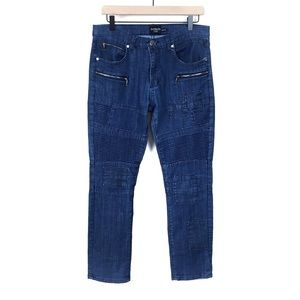 Patron CITO Moto Patched Zipper Jeans Straight 30